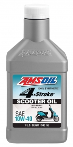 AMSOIL Formula 4-Stroke Synthetic Scooter Oil 10W-40 Фото 1