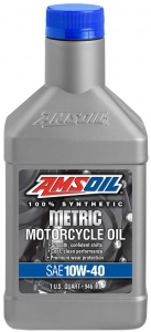 AMSOIL Metric Motorcycle Oil 10W-40 Фото 1