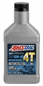 AMSOIL Performance 10W-40 Motorcycle Oil Фото 1