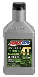 AMSOIL Performance 20W-50 Motorcycle Oil Фото 1
