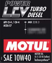 MB 228.3 Motul POWER LCV TURBO Diesel