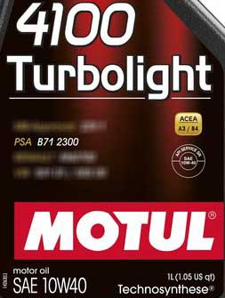 Motul 4100 Turbolight psa b71 2300