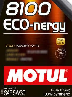 Motul 8100 eco-nergy Ford WSS-M2C913-D