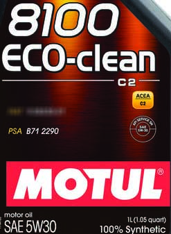 Motul 8100 Eco-clean PSA B71 2290